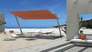 Grand Parasol Rectangulaire : grand parasol autoportant aluminium toile inclinable flexy zen ~ Teatrodelosmanantiales.com Idées de Décoration