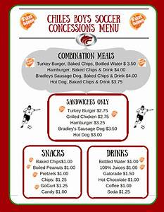 healthy concession stands living well in the panhandle With concession stand menu template