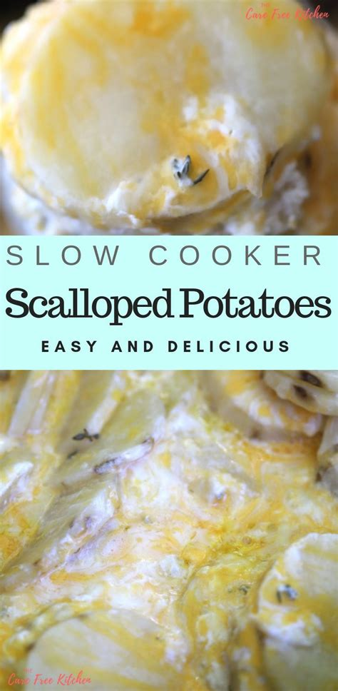 Some recipes wrap slow cooker baked potatoes in aluminum foil and while you can do that, it's not necessary. So Easy! My family loves these! These scalloped potatoes are made in a crockpot and … | Slow ...