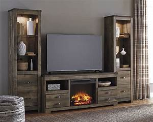 Trinell W446 3 Pc Entertainment Center With Fireplace