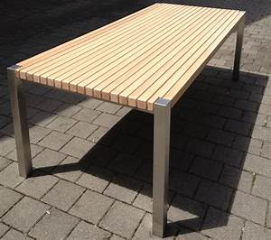 Gartentisch Edelstahl Holz : gartentisch l rche edelstahl albachrom ~ Frokenaadalensverden.com Haus und Dekorationen