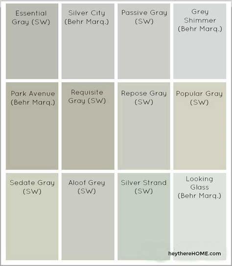 17+ Stunning Behr Neutral Paint Color Chart
