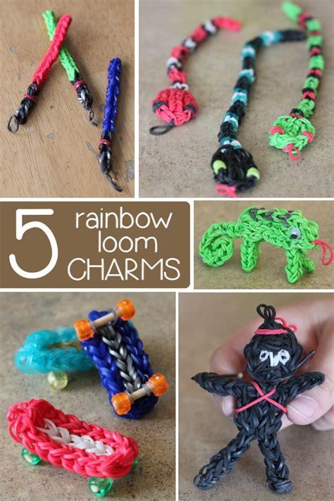 colorful rainbow loom charms   released  kids