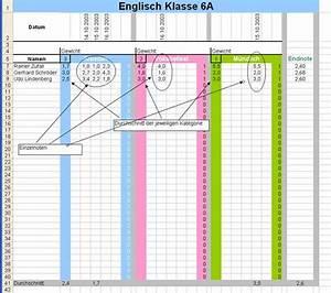 Größe Und Gewicht Des Ungeborenen Berechnen : excel anwendung noten berechnen standard funktionen ~ Themetempest.com Abrechnung