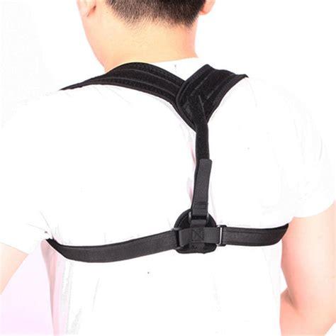 Black Adjustable Unisex Back Posture Corrector Clavicle ...