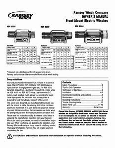 Ramsey Winch Rep 8000  9000 Current User Manual