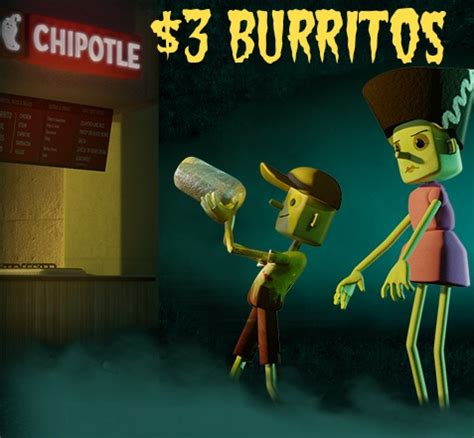 Chipotle Halloween Special Hours by Chipotle Halloween Special 3 Burritos