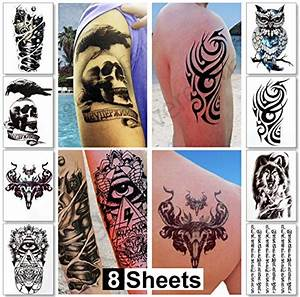 Large temporary tattoos for guys for men teens fake for Large letter temporary tattoos