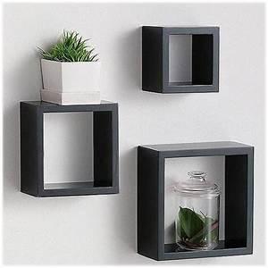 Wooden cube wall shelves designs