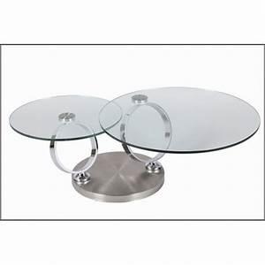 Table Basse En Verre Ronde : table basse design ronde en verre modulable astucia 230 cbc meubles ~ Teatrodelosmanantiales.com Idées de Décoration