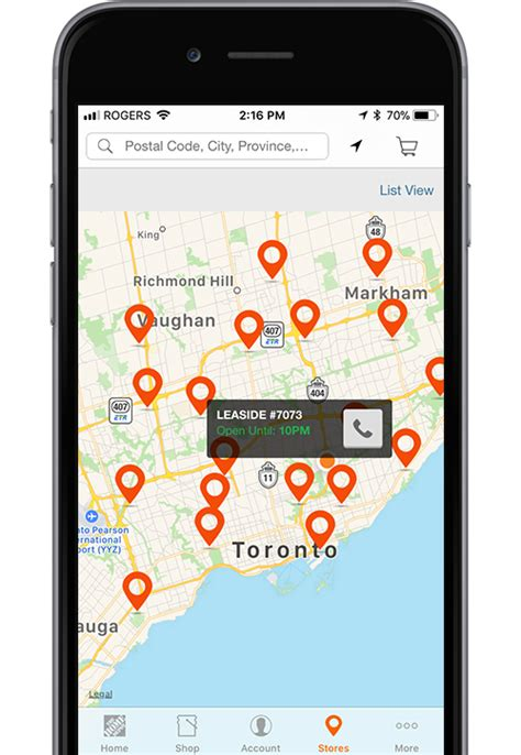 3 mobile store locator mobile app the home depot canada