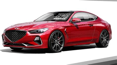 genesis  coupe rendered  sexier rear