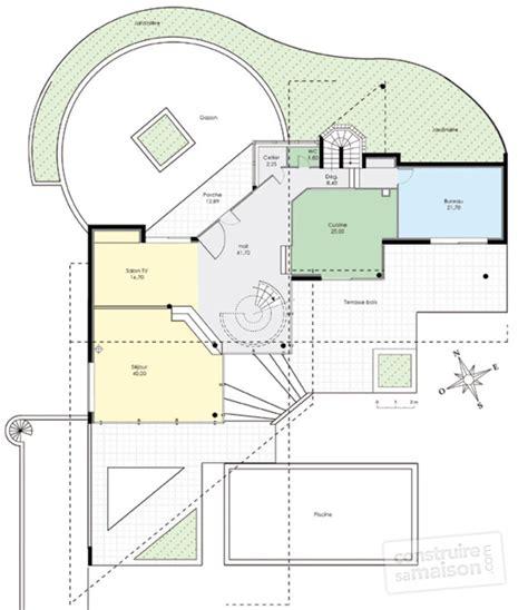 chambre bleu et blanc maison d 39 architecte 1 dé du plan de maison d