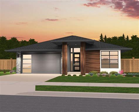 Brooke Modern One Story House Plan by Mark Stewart