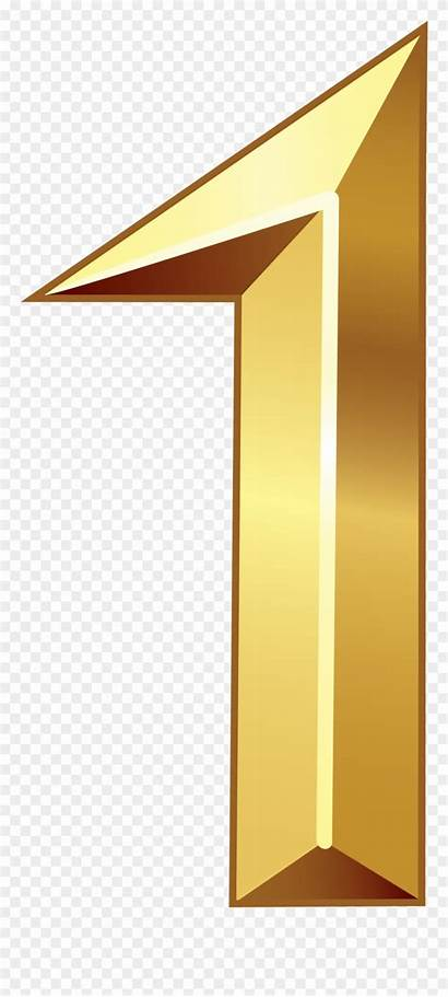 Clipart Clip Number Gold Transparent Pinclipart Middle