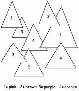 Triangles Number Triangle Coloring Pages Worksheets Preschool Shapes Worksheet Shape Printable Learning Instrument Thanks sketch template