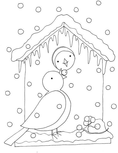 Kleurplaat Vogels In De Winter by Kleurplaat Vogels In De Winter Vogels Kleurplaten