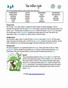33 Water Cycle Fill In The Blank Worksheet Answers