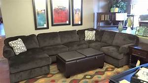 Ashley furniture jessa place sectional 398 review youtube for Sectional sofas room place