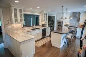 Above Kitchen Cabinet Decor by Fantasy Brown Quartzite Countertops Traditional