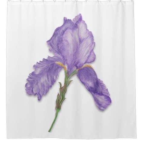 Purple Flower Shower Curtain by Purple Flower Single Bearded Iris Shower Curtain Zazzle