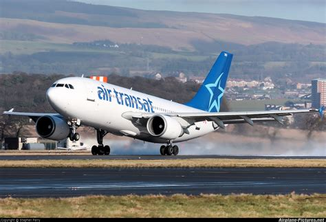 c fdat air transat airbus a310 at glasgow photo id 121997 airplane pictures net