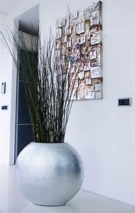 Große Deko Vasen : exklusiver pflanzk bel fiberglas ovale silber hochglanz blumenk bel pflanzk bel vivanno ~ Markanthonyermac.com Haus und Dekorationen