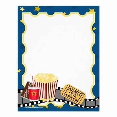Template Ticket Party Cinema Invitation Popcorn Printable