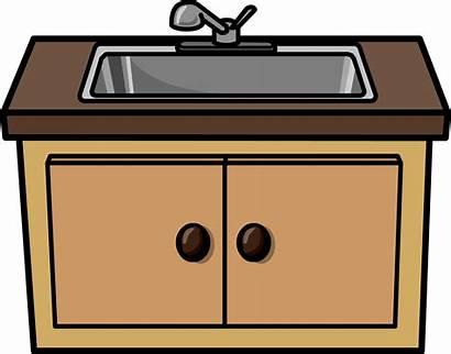 Sink Kitchen Clipart Counter Clip Cliparts Transparent