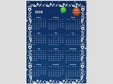 2018 Yearly Calendar Design Template Free Printable