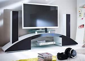 Tv Lowboard Mit Tv Halterung : tv lowboard sound 3 at18842 wei hochglanz media lack ebay ~ Michelbontemps.com Haus und Dekorationen