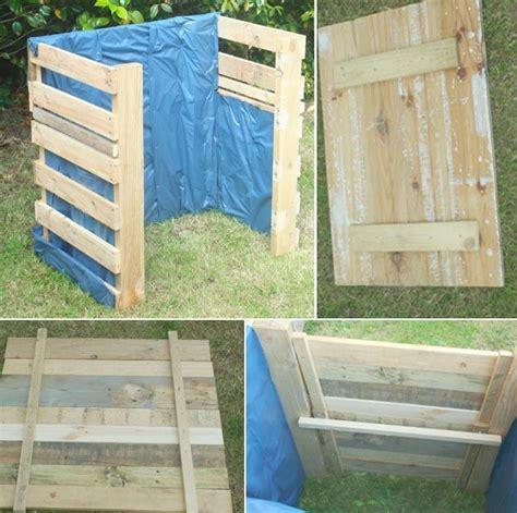 fabriquer composteur palette composteur en palettes bricolage composteur