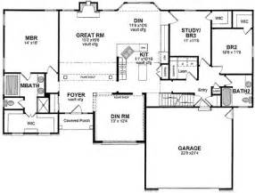 one level floor plans one level open floor plan