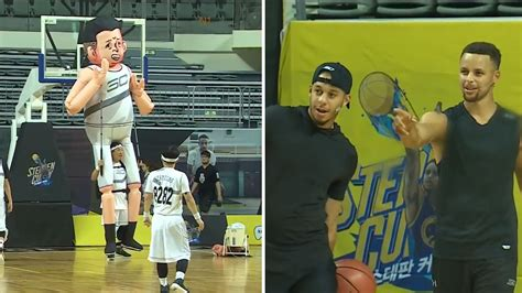 steph  seth curry faced   foot inflatable puppet