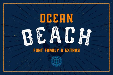 Ocean Beach • Five Fonts  Display Fonts On Creative Market