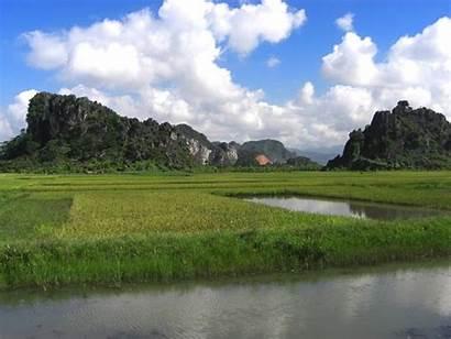Vietnam Landscape Sky Paddy Ninh Binh Province