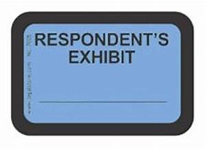amazoncom legalstore exhibit labels quotrespondent39s With electronic exhibit stickers