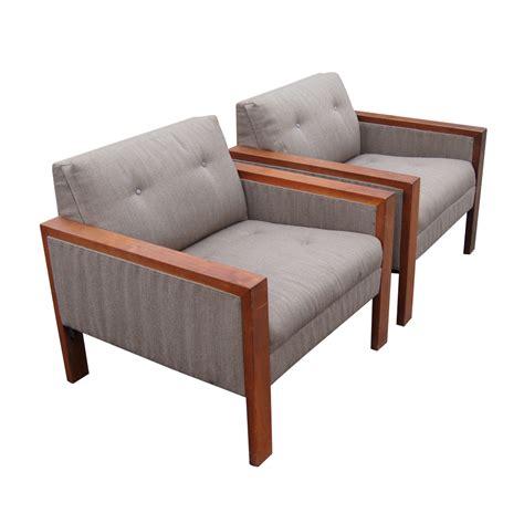 Two Armchairs by 2 1980s Gunlocke Lounge Armchairs Ebay