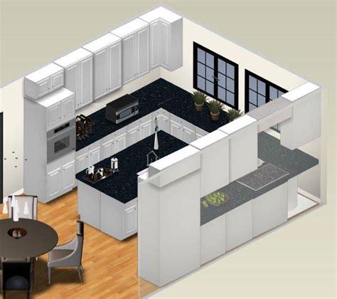 3d kitchen plans with islands open kitchen floor plans