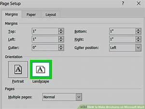 How Do You Make A Brochure In Microsoft Word How To Make Brochures On Microsoft Word With Pictures