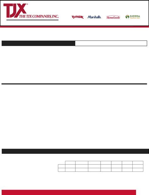 marshalls printable job application form