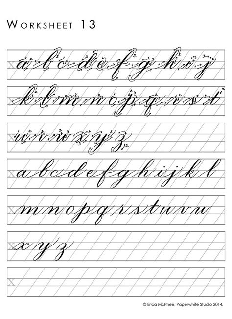 great worksheets  copperplate calligraphy worksheet