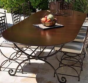 Table Robion 3m X 120m Mobilier En Fer Forg Aix