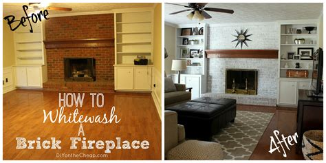 whitewash  brick fireplace erin spain