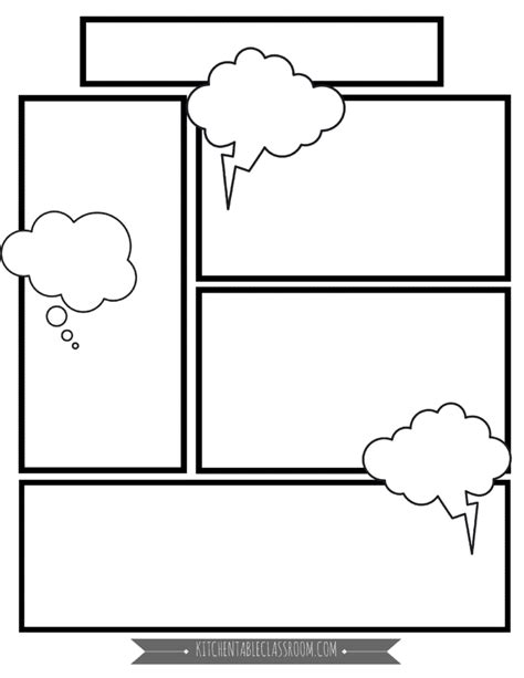 comic book templates  printable pages  kitchen