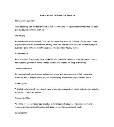 how to write a business plan template business plan outline template 17 free word excel pdf format free premium