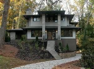 Photo Of Small Prairie Style House Plans Ideas by A Custom Built Modern Prairie Style Home In The Lavista
