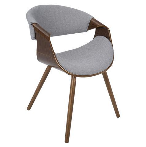 lumisource curvo mid century modern walnut chair
