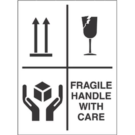 package labelling fragile handle  care  symbols