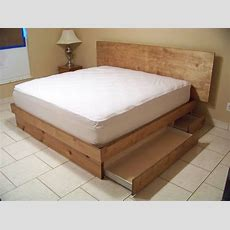 Handmade Storage Platform Bed By Scott Design Woodworx Llc